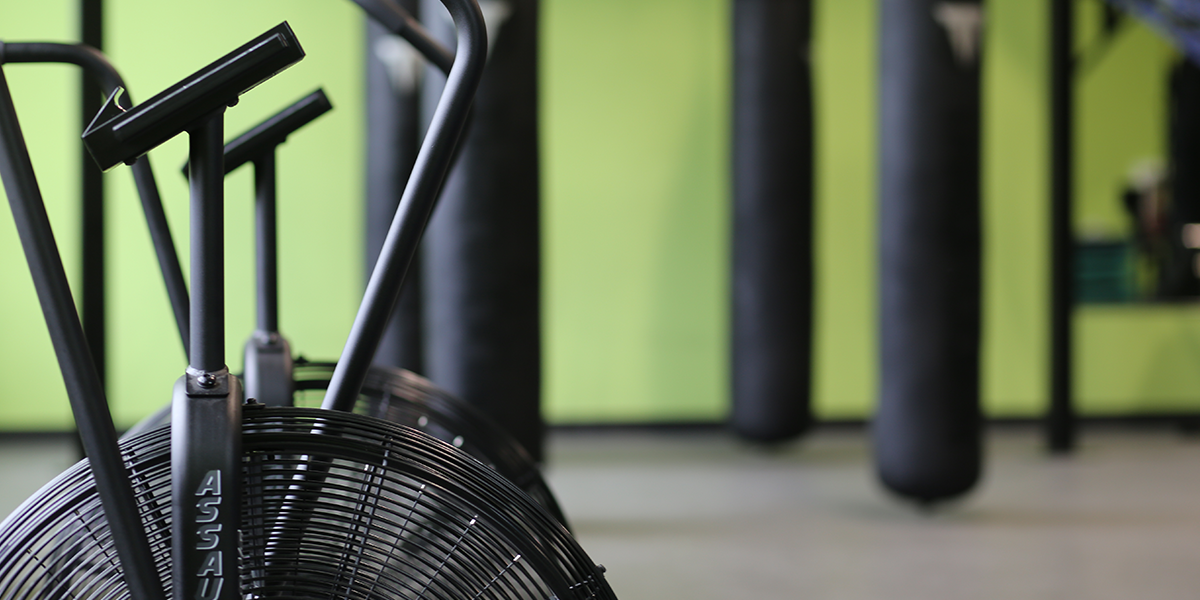 Stationary bike close up
