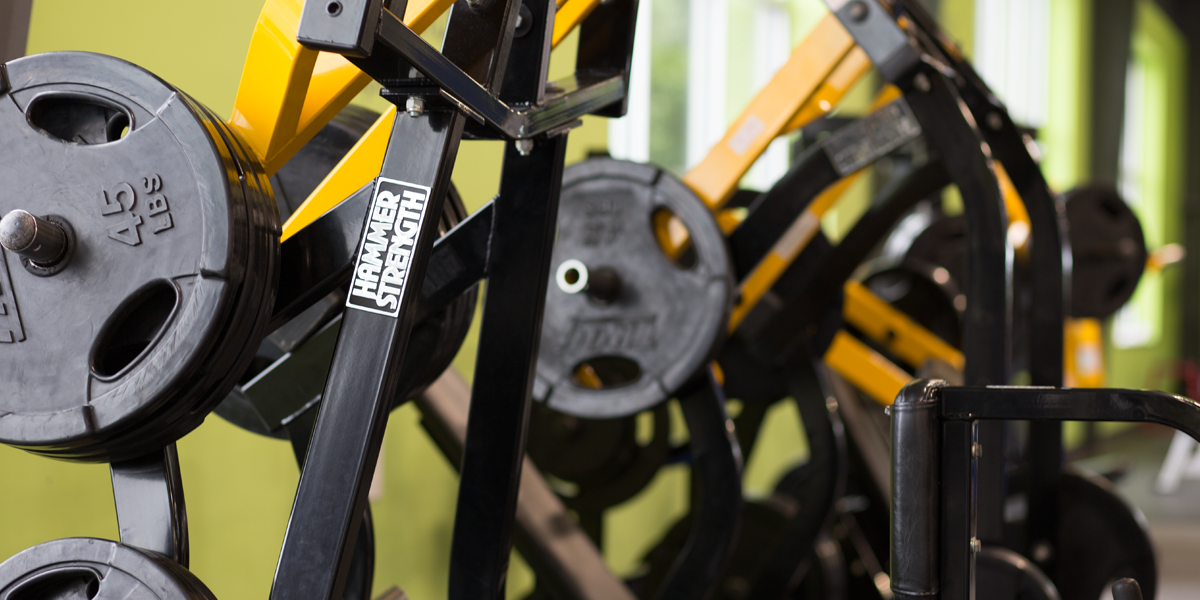 strength training machines closeup